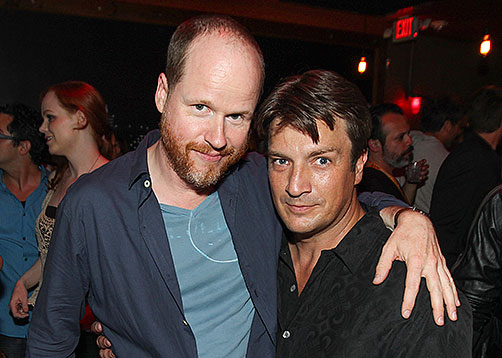 Josh Whedon and Nathan Fillion