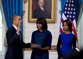 President Obama swearing in for 2nd term