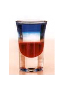 American Flag Cocktail