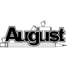August banner with pencils