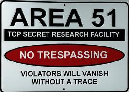 fake Area 51 sign