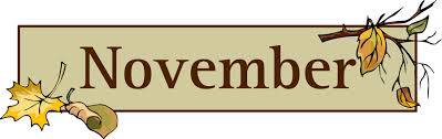 November banner