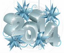 blue new year 2014