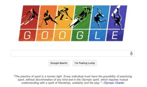 Google Gay Doodle for Olympics