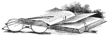 Book with Glasses grey scale
