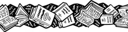 books headers blk and white