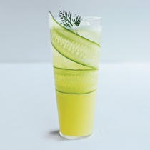 Cucumber Lemonade Mocktail. A111206 Food & Wine March 2012