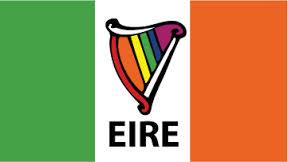 Irish Harp with Rainbow