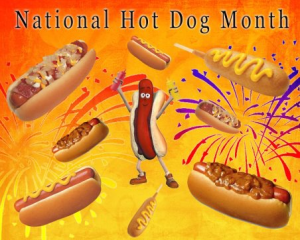 national hot dog month