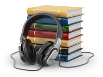 audiobook-concept-headphones-books-white-background-39281337