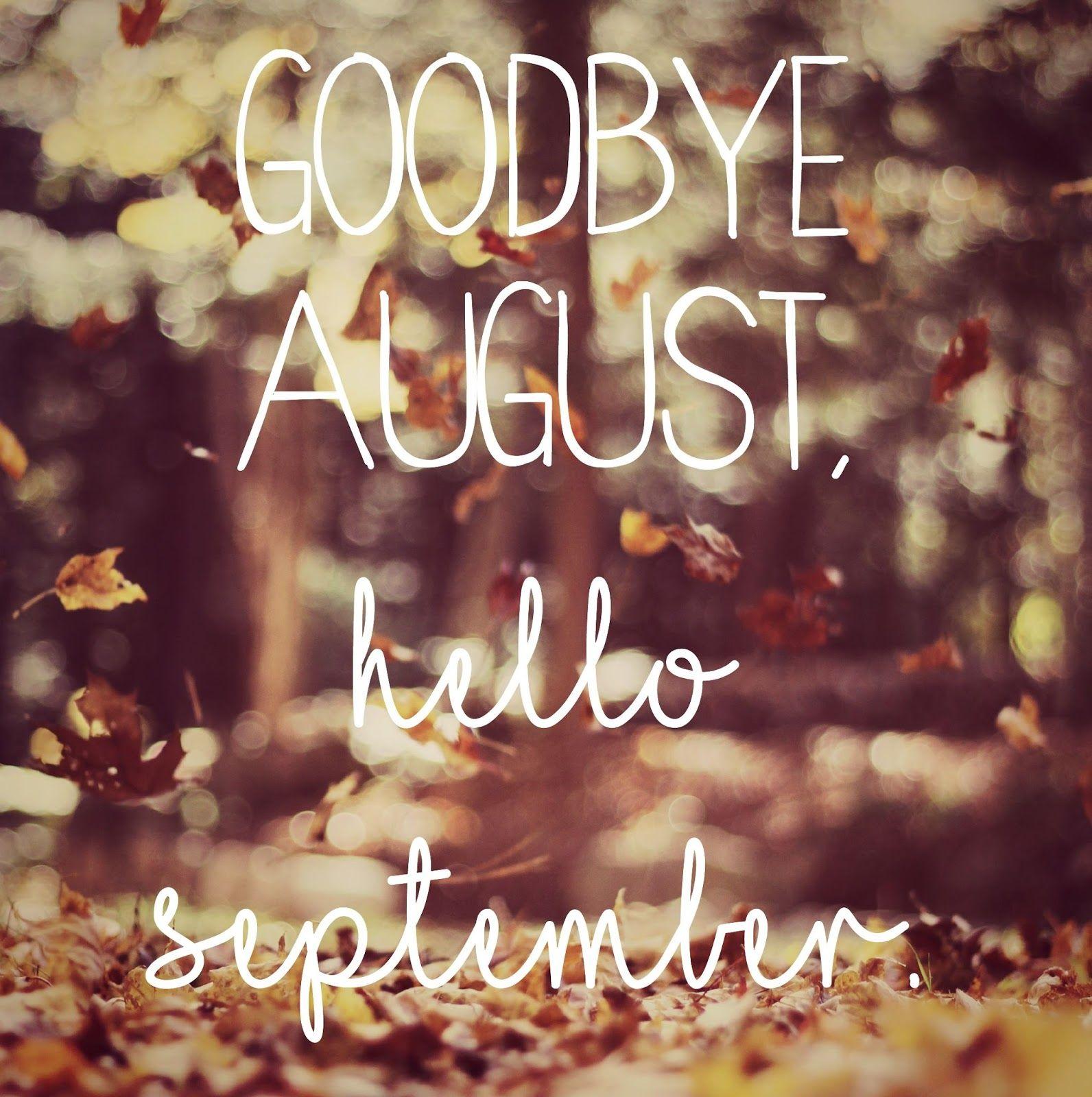 Goodbye August Hello September Design